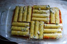 cannelloni Cannelloni Recipes, Italian Recipes, Asparagus, Pasta, Baking, Vegetables, Food, Studs, Bakken