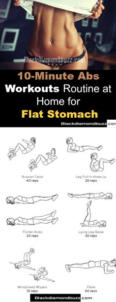 10 Minutes Abs Workout Routine at Home for Flat Stomach and Slim Waist. #fitness #abs #exercise