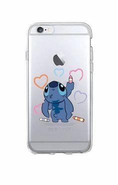 Funny Cute Stitch Cartoon Emoji Soft TPU Clear Phone Case Fundas Coque For iPhon. Diy Iphone Case, Iphone Phone Cases, Cellphone Case, Disney Phone Cases, Cute Phone Cases, Funny Phone, Coque Iphone 5c, Capas Iphone 6, Apple Iphone 6