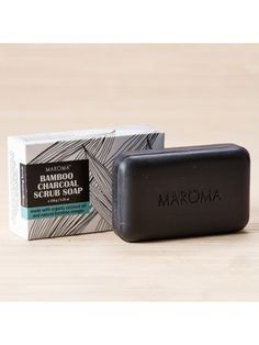Bamboo Charcoal Scrub Soap #activatedcharcoal #charcoal #activated #india #maroma #auroville