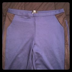 Mossimo Blue Tuxedo Style Legging Worn once, great condition. Tight fitting but not thin. Black stripe down leg of pant. Mossimo Supply Co. Pants Leggings