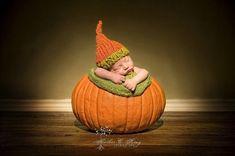Newborn in a Pumpkin