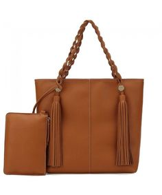 Women Tote Shoulder Bag Purse Ladies Handbag Large Hobo Tassel Soft  Lightweight Vegan Leather - Tan - C818CLYMEE4 39bc5add08