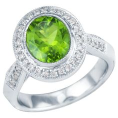 Peridot is such a refreshing pop of color. Perfect for those August birthdays! My  daughters birthstone