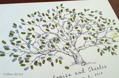 For our Quaker reception Large Low Oak Design The original handdrawn guest by bleudetoi, $100.00