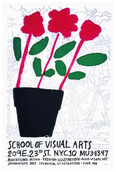 RIP Tony Palladino (born who died 14 May 2014 / Poster for School of Visual Arts, 1961 Design Typography, Graphic Design Posters, Lettering, Technical Illustration, Graphic Illustration, Cover Design, Design Art, Zine, Posters Conception Graphique