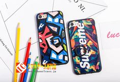 超クール色カラフルsupreme人気iphone7ケース
