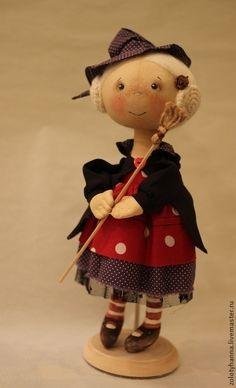 Купить Ведьмочка. Хеллоуин - ведьмочка, добрая игрушка, золотых анна, хеллоуин, сувенир, маленькая колдунья