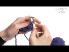 Sandnes Garn - Hvordan strikke vrang maske - YouTube