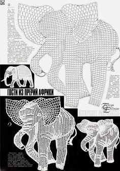 Resultado de imagem para crochet animals out of doilies Filet Crochet, Freeform Crochet, Crochet Diagram, Crochet Art, Thread Crochet, Crochet Animals, Crochet Doilies, Irish Crochet Charts, Appliques Au Crochet