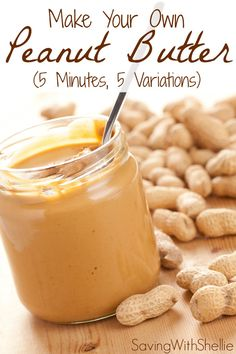 How to make your own peanut butter in just 5 minutes. No junk. No preservatives. See recipes for Creamy, Chunky, Cinnamon-Raisin, Honey and Chocolate Peanut Butter. You'll never buy store bought again! (peanut butter dessert recipes how to make) Homemade Peanut Butter, Chocolate Peanut Butter, Recipe For Peanut Butter, Honey Peanut Butter, Vitamix Peanut Butter, Making Peanut Butter, Chocolate Cake, Comida Diy, Do It Yourself Food