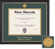 Framing Success Prestige Mdl Law Diploma Frame. Double Matted in Satin Black Finish, Gold Trim