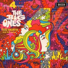 """""""The Big Ones"""". Peter Max inspired artwork for Ted Heath."""