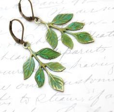 Patina Branch Earrings Woodland Jewellery by apocketofposies, $24.00