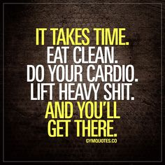 It takes time. Eat clean. Do your cardio. Lift heavy shit. And you'll get there. #bepatient #trainhard #eatclean https://www.musclesaurus.com