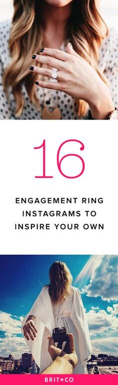 Swooning over these engagement ring Instagrams!