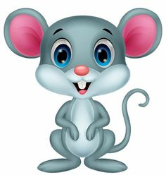 Gray Mouse Stock Vector Illustration And Royalty Free Gray Mouse Clipart Cartoon Drawings, Cartoon Art, Animal Drawings, Cute Cartoon, Cute Mouse, Cute Clipart, Tole Painting, Digi Stamps, Rock Art