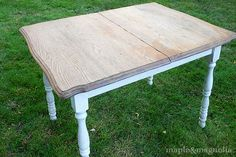Grey washed with white legs. I'm doing this to my table this weekend!!!