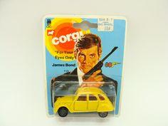 James Bond movie car-james bond for your eyes only car-James Bond Citroen-Corgi Citroen james bond car- 007 bond car-old citroen toy car by BECKSRELICS on Etsy