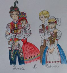 moravian czech national costume paintings - Google Search