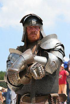 """ritasv: """" Grimm by Mark Fielder """" Medieval Knight, Medieval Armor, Medieval Fantasy, Armor Clothing, Medieval Clothing, Armadura Medieval, Sword Fight, Landsknecht, Grimm"""