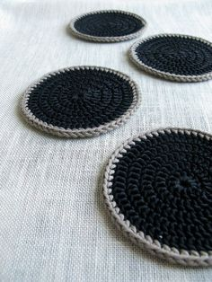 Yarn: Sandnes Garn Mandarin Classic, 30 g, and Rowan Handknit Cotton for the edges Hook: 3 mm It's been the hottest summ Filet Crochet, Crochet Motif, Crochet Yarn, Crochet Patterns, Crochet Coaster, Doily Patterns, Thread Crochet, Doilies Crochet, Dress Patterns