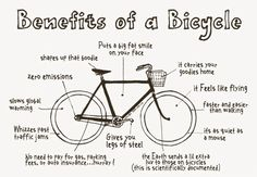 Benefits of a Bike, next to yoga biking is my number one love for exercise