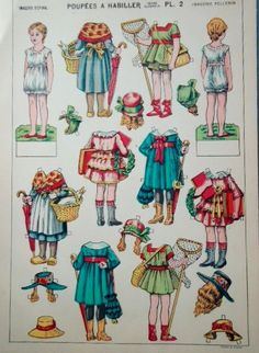 Antique Uncut French Paper Doll French Paper by SwirlingOrange11
