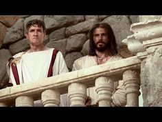 Jesus Is Condemned Before Pilate - again, powerfully rendered in conveying the spirit and attitude behind the words: great acting by both main men