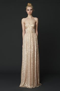 A favorite silhouette, just simply sparkly! Erin Fetherston
