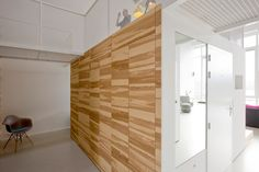 Interior, Nice House Like Village By Marc Koehler Architects In Amsterdam Featuring Wooden Wall, Wire Railing And Bright Floor: Gorgeous Contemporary Home Interior from Holland with Fabulous