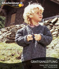 Ganz besonders süß ist diese Jungenjacke aus Schachenmayr #Trachtenwolle. Durch das traditionelle Design lässt sie sich ideal zu Trachten kombinieren.