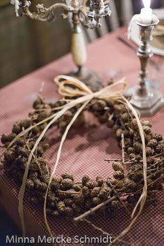 Pinecone wreath - maybe hemlock pinecones?