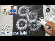 Toilet Paper Rolls Dandelion Painting Technique for Beginners ♡ Maremi's Small Art ♡ Watercolor Painting Techniques, Simple Acrylic Paintings, Easy Paintings, Watercolor Paintings, Basic Painting, Gouache Painting, Painting Abstract, Drawing Techniques, Painting Art