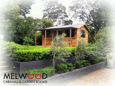 Loving the landscaping in this gorgeous backyard. Clean and simple is where its at. . .. . This is the Verandah Cabana No.18 (5.4m wide 3.2m deep  1.3m verandah) with #cedar upgrade and woodland grey Colorbond roof gutters and downpipes. www.melwood.com.au   #colorbond #melwoodcabana #melwoodcabanas #woodlandgrey #landscaping #prettygarden #cabana #gardenstudio #gardenroom #backyard #garden #backyardcabana #landscapers #gardendesign #cedar #westernredcedar