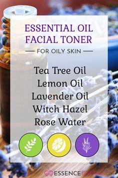 Clear your skin, shrink your pores, and reduce excess oiliness with this simple, DIY facial toner made with only three essential oils! This toner uses witch hazel, rose water and essential oils to combine the best ingredients for your oily skin! Toner For Face, Facial Toner, Skin Toner, Natural Face Toner, Natural Facial, Natural Hair, Natural Beauty, Oily Skin Care, Skin Care Tips
