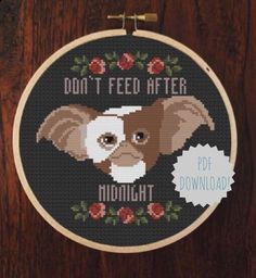 DIY Don't Feed After Midnight PATTERN by RichBitchCrossStitch