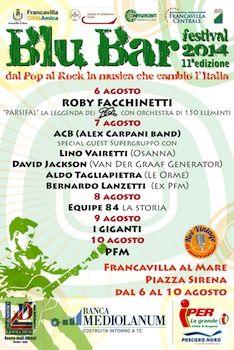 Blue Bar Festival 2014: dal 6 al 10 agosto a Francavilla al Mare