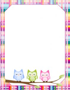 Printable Blank Writing Paper for home or school. Find lots of different printable paper in the School ZonePrintable Blank Writing Paper for home or school. Find lots of different printable paper in the School Zone Filofax, Owl Writing, Writing Paper, Printable Border, Printable Paper, Mother's Day Printables, Owl Classroom, Theme Harry Potter, Paper Owls