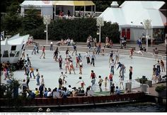 THE Ontario Place The West Island reflecting pool was filled in with concrete and a refrigeration system to furnish an ice skating rink. In 1979 the rink was opened in summer as a roller rink offering a unique hangout for post disco-era teens. Roller Rink, Roller Derby, Roller Skating, Skating Rink, Ontario Place, Niagara Falls, Toronto, Street View, Culture