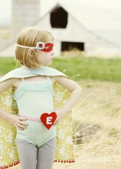 super hero..my friend Lisa as a child...