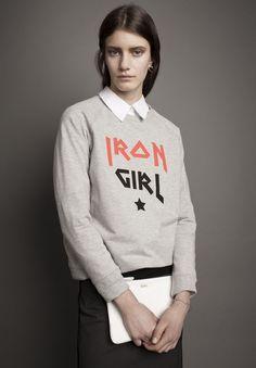 ADÉLIE - Rika - Marlon Iron Girl Sweatshirt in Grey