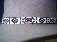 Native American Style Beaded Hat band