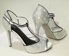 DIRTY DANCING Sparkly High heels shoes with by MonteCrystals Bling Shoes 48297e309a