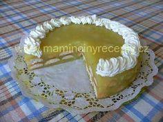Jablkový pudinkový dort