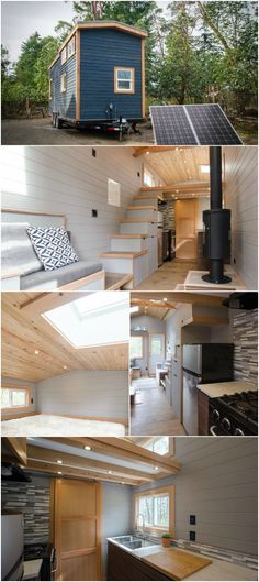 The Blue Heron from Rewild Tiny Homes Gets You Off the Grid in Style - Rewild Homes is a family-run company on Vancouver Island that's all about living simply, using less, and doing more. Their tiny houses are built using locally sourced material and are made to be sustainable and affordable. The 250 square foot Blue Heron is one of their tiny houses that's currently listed for $78,000.