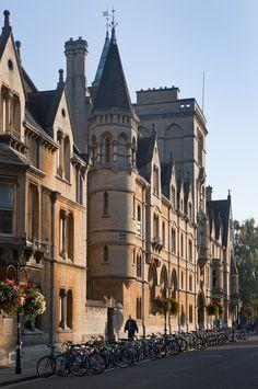 oxford, england-broad st牛津,英国广泛 st