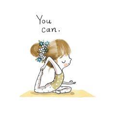 Yoga Motivation zur Selbsthilfe am Sonntag via . - GMPR on IG - Yoga İdeen Yoga Motivation, Training Motivation, Yoga Jobs, Chico Yoga, Yoga Kunst, Yoga Cartoon, Citations Yoga, Yoga Drawing, Drawing Girls