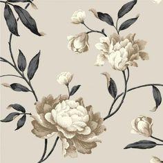 Debona Georgina Floral Trail Leaf Rose 10m Wallpaper Roll 14854