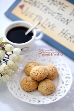 Peanut & Walnut Cookies, Chinese Recipe With Photos